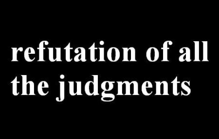 refutation of all the judgments